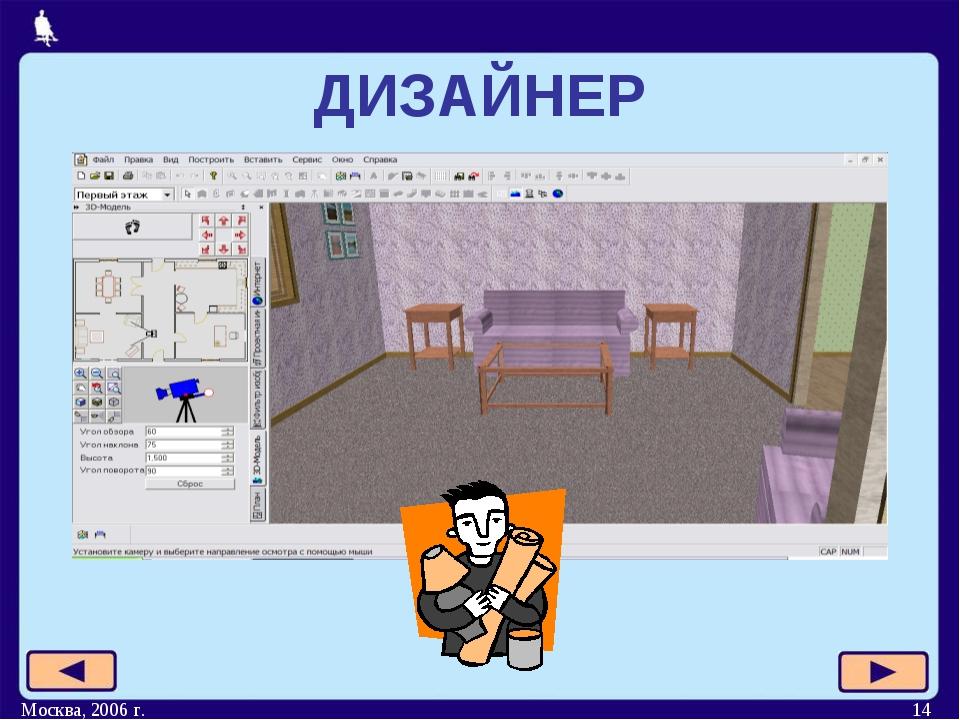 Москва, 2006 г. * ДИЗАЙНЕР Москва, 2006 г.