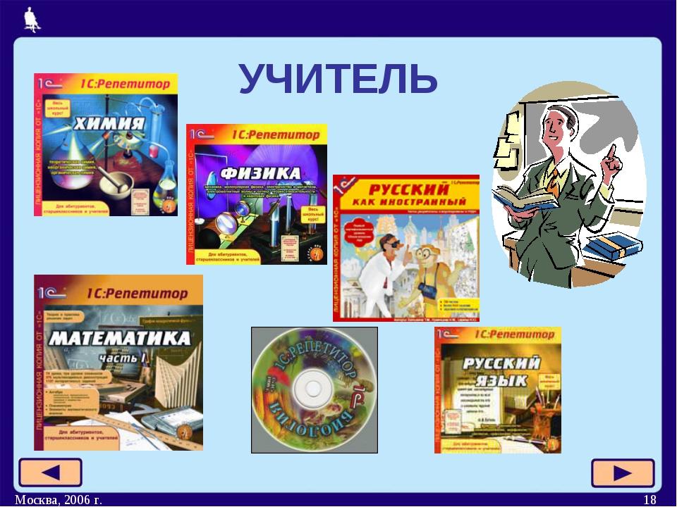 Москва, 2006 г. * УЧИТЕЛЬ Москва, 2006 г.