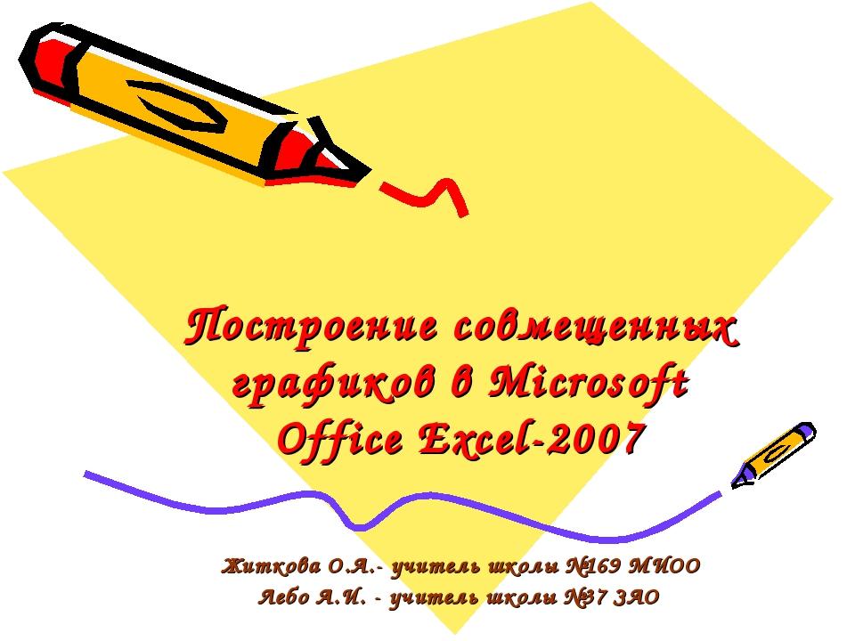 Построение совмещенных графиков в Microsoft Office Excel-2007 Житкова О.А.- у...