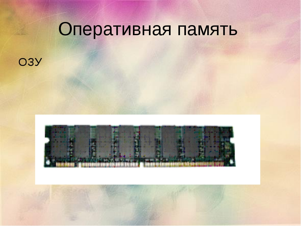 Оперативная память ОЗУ