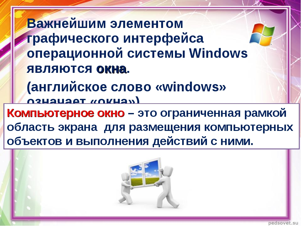 Важнейшим элементом графического интерфейса операционной системы Windows явля...