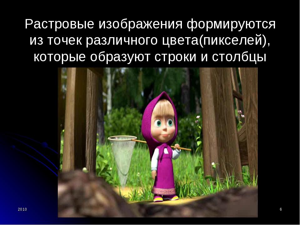 2010 Bolgova N.A. * Растровые изображения формируются из точек различного цве...