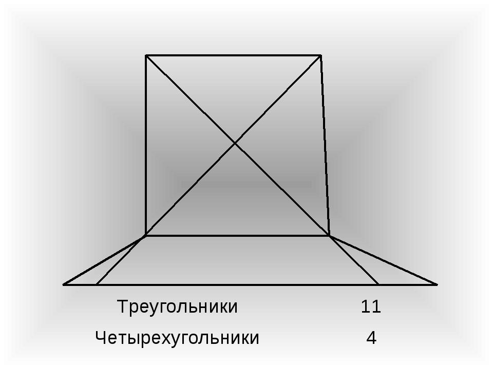 Треугольники11 Четырехугольники4