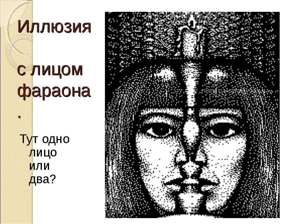Иллюзия с лицом фараона. Тут одно лицо или два?