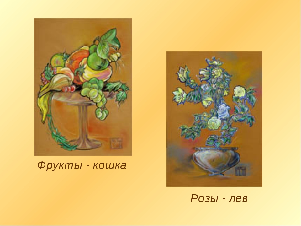 Фрукты - кошка Розы - лев