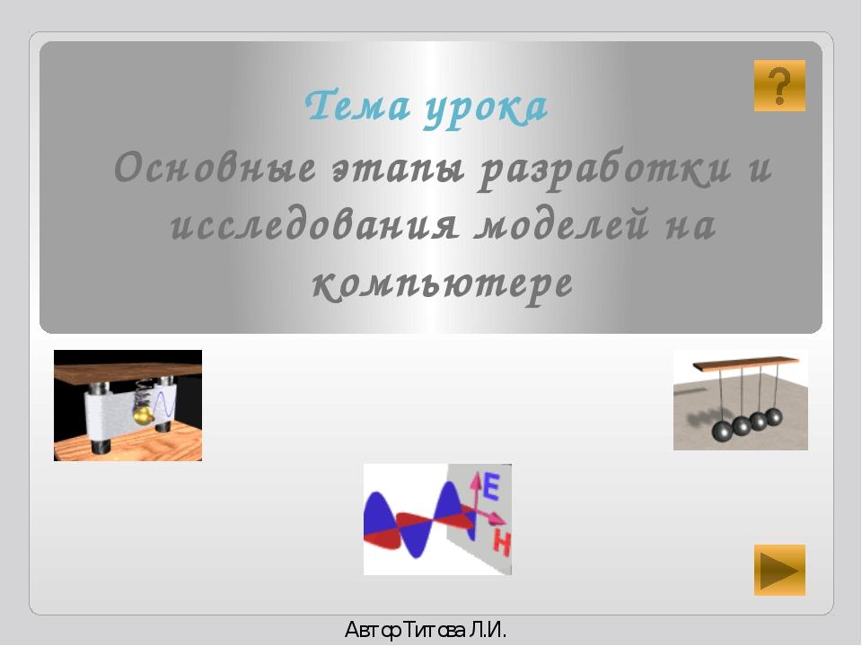 Формализованная модель Компьютерная модель Компьютерный эксперимент Анализ по...