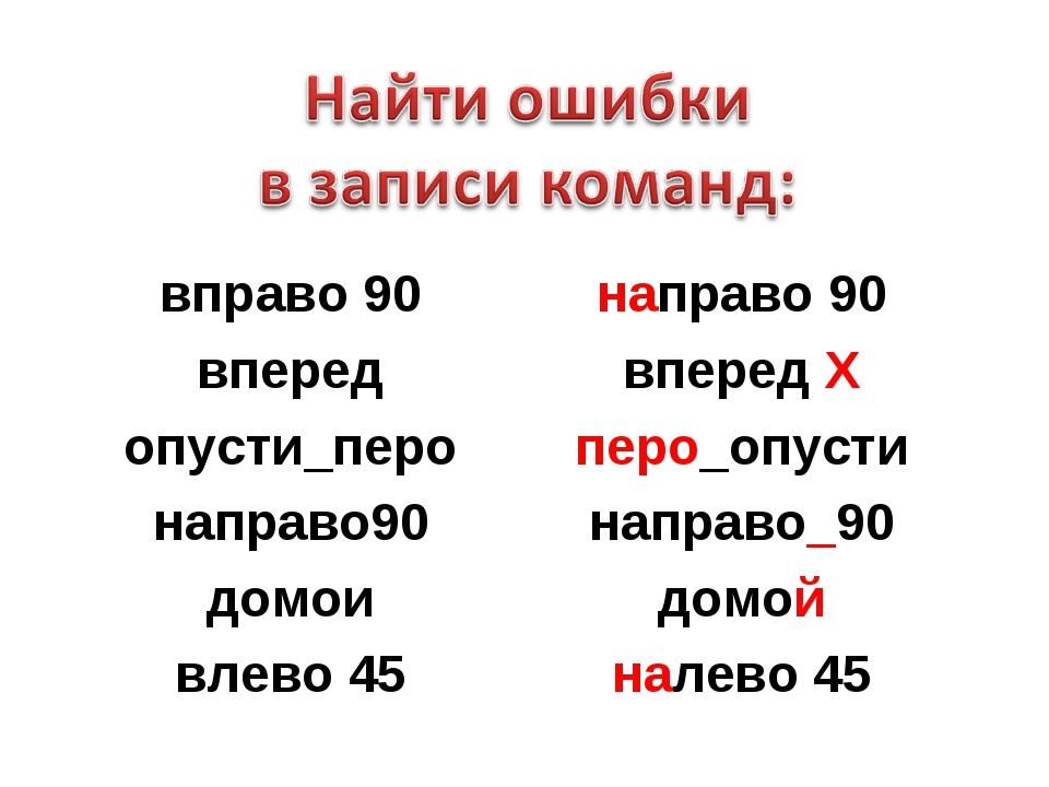 вправо 90 вперед опусти_перо направо90 домои влево 45 направо 90 вперед Х пер...