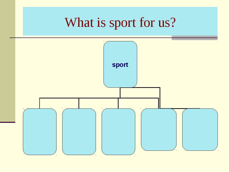 What is sport for us?