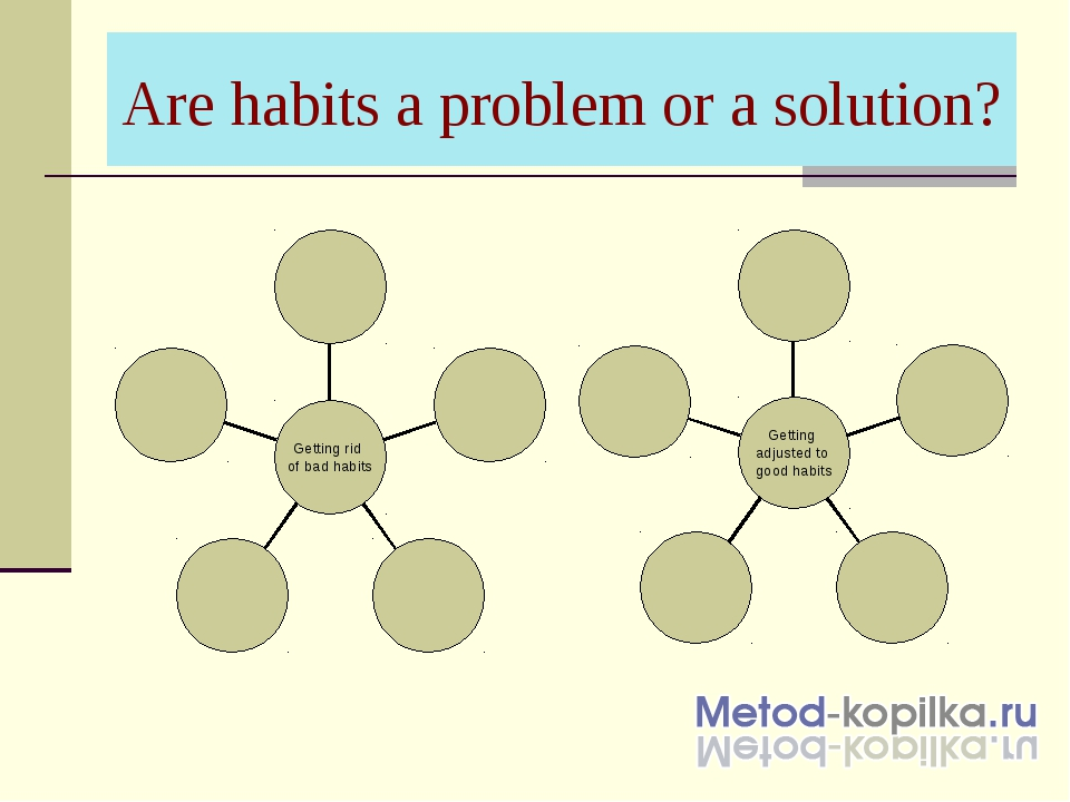 Are habits a problem or a solution?