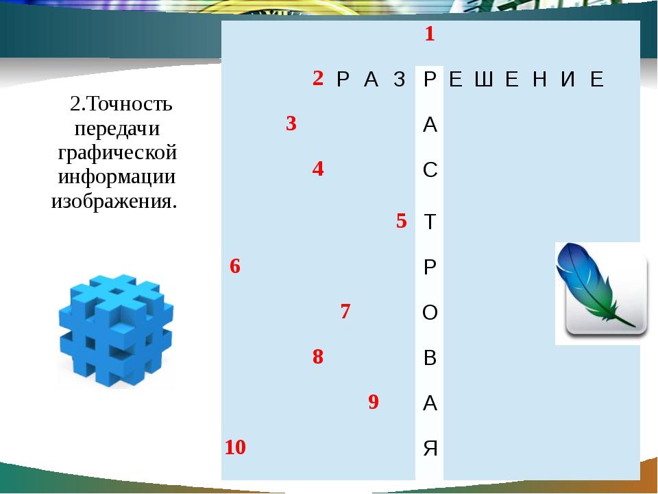 2.Точность передачи графической информации изображения. 1 2  3 4 5 6  7 8 9...