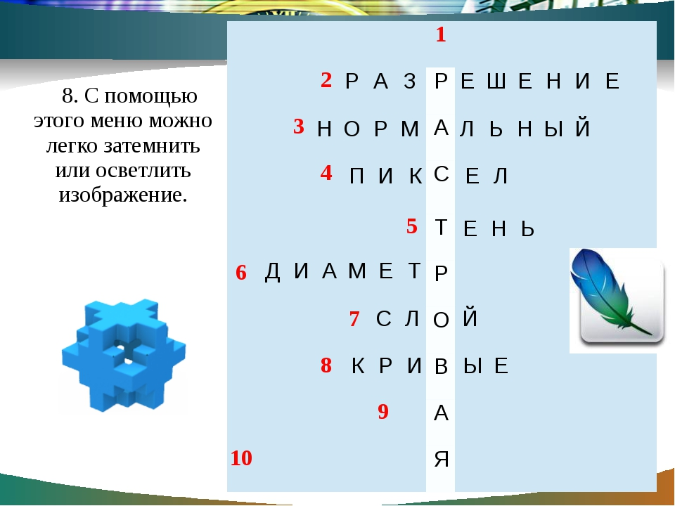 8. С помощью этого меню можно легко затемнить или осветлить изображение. 1 2...