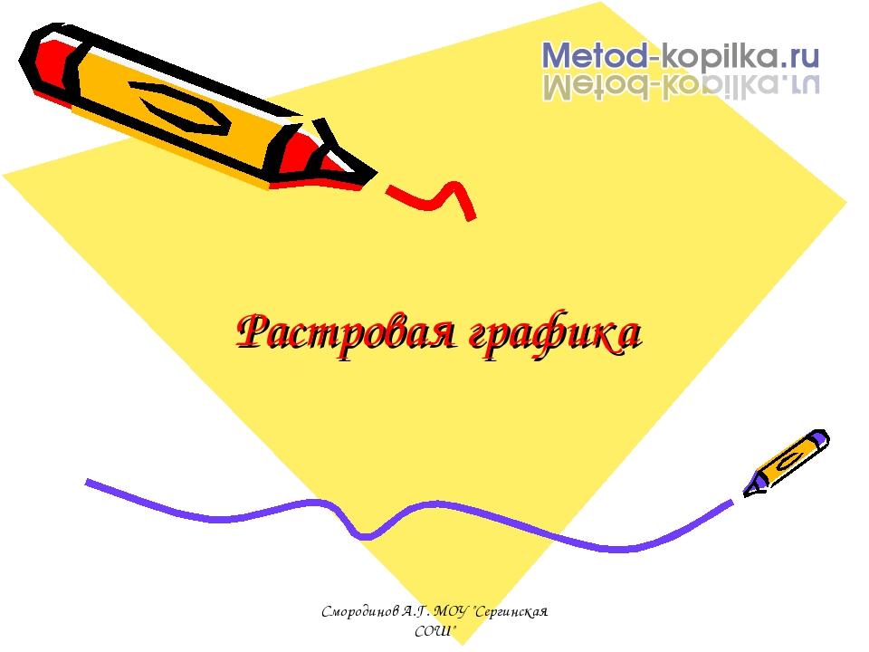 """Растровая графика Смородинов А.Г. МОУ """"Сергинская СОШ"""" Смородинов А.Г. МОУ """"С..."""
