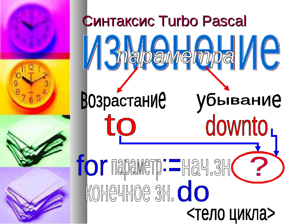 Синтаксис Turbo Pascal