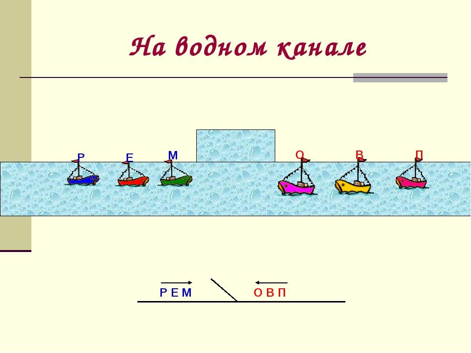 На водном канале