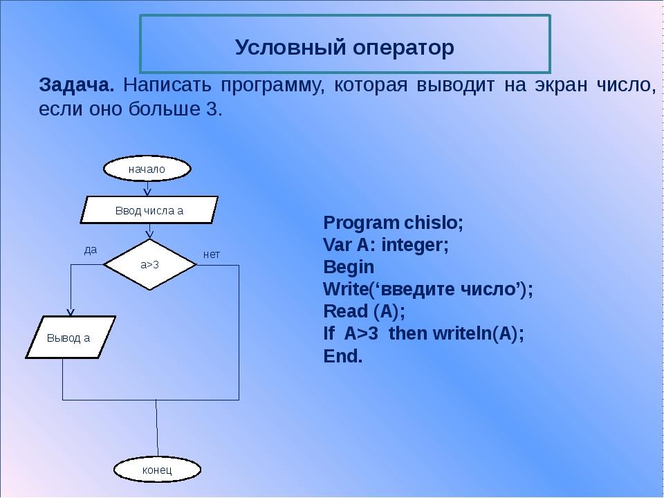 Program chislo; Var N: integer; Begin Write('введите число:'); Readln(N); Ca...