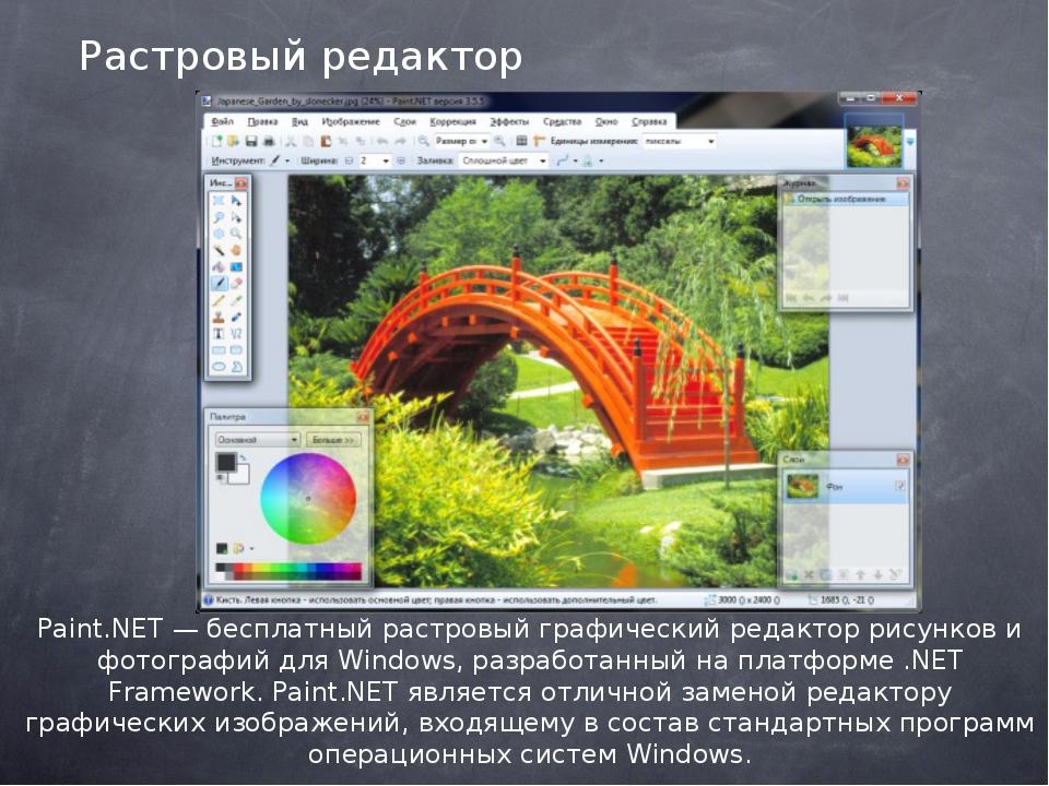 Растровый редактор Paint.NET — бесплатный растровый графический редактор рису...