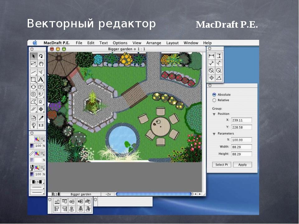 MacDraft P.E. Векторный редактор