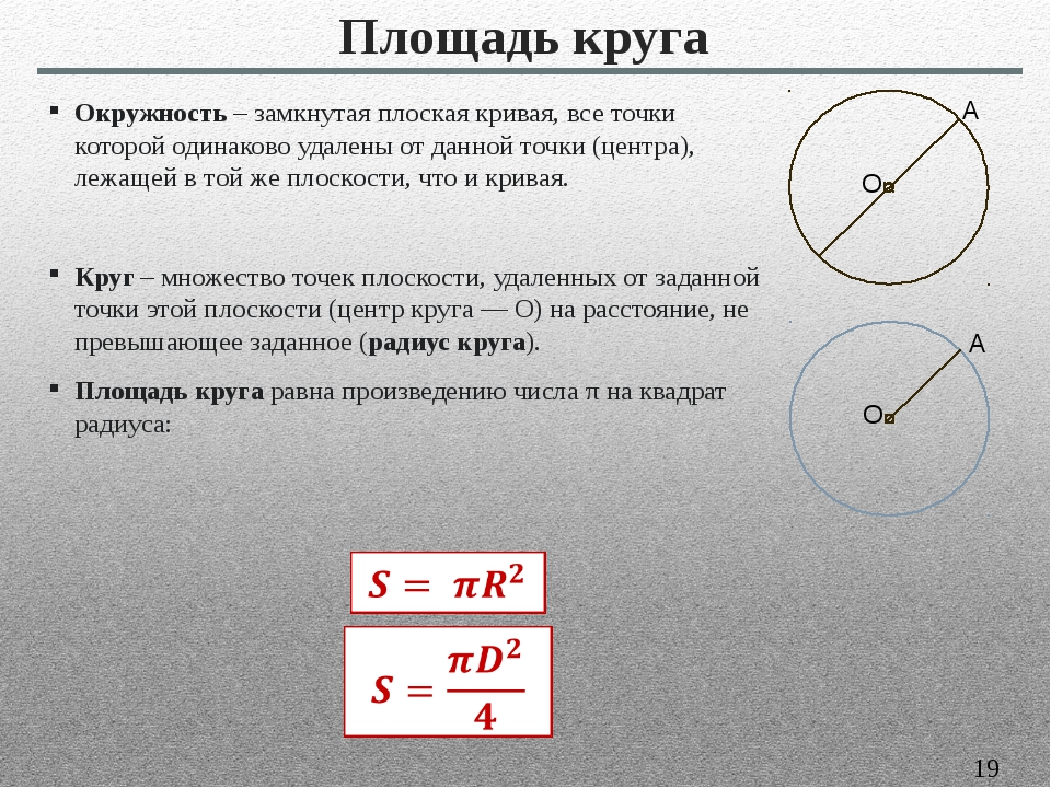 Окружность– замкнутая плоская кривая, все точки которой одинаково удалены от...