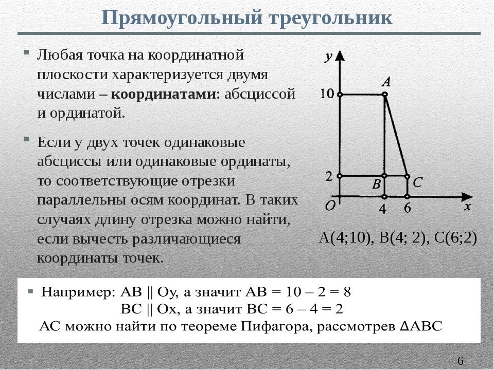 Любая точка на координатной плоскости характеризуется двумя числами – координ...