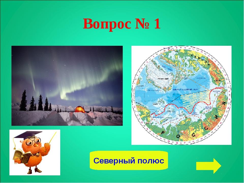 Вопрос № 1 Северный полюс