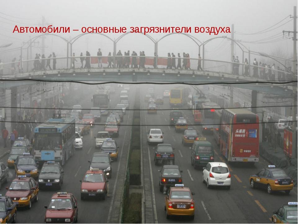 Автомобили – основные загрязнители воздуха