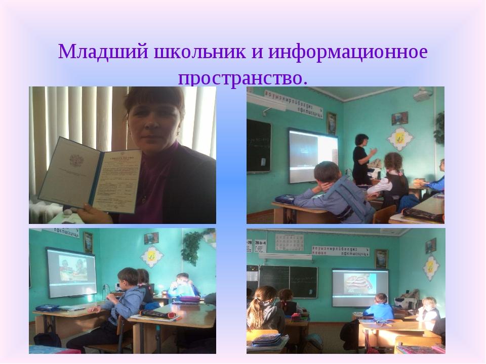 Младший школьник и информационное пространство.