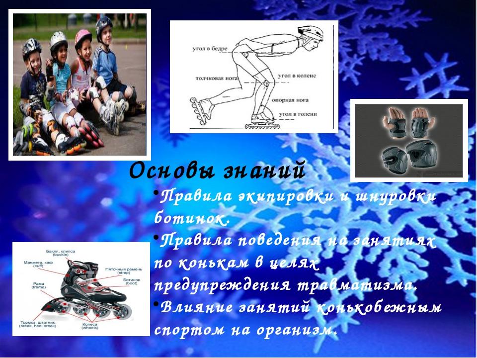 Основы знаний Правила экипировки и шнуровки ботинок. Правила поведения на зан...