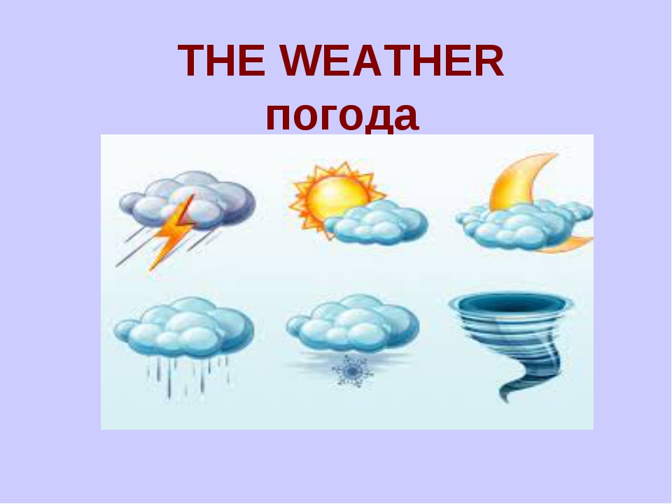THE WEATHER погода