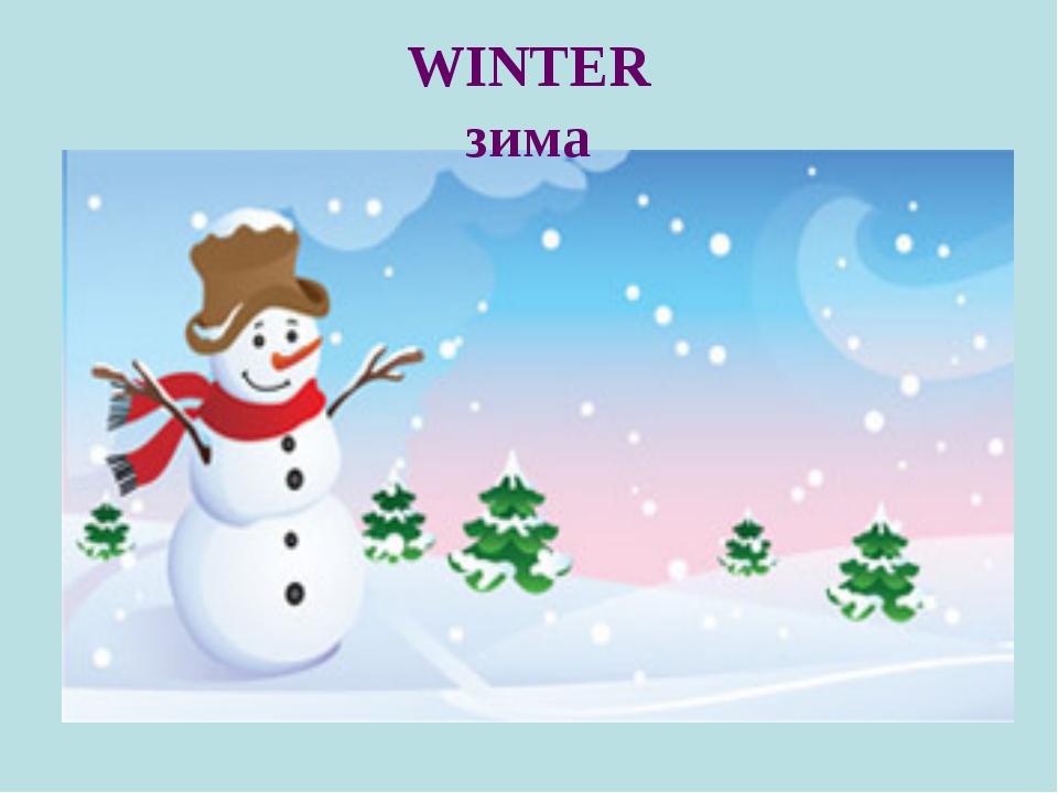 WINTER зима