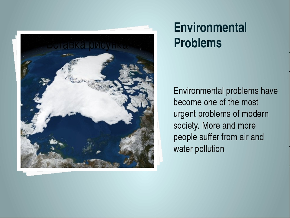 Environmental Problems Environmental problems have become one of the most urg...