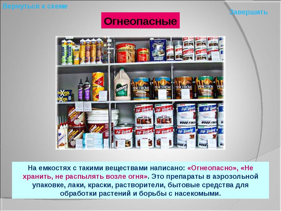 Огнеопасные На емкостях с такими веществами написано: «Огнеопасно», «Не храни...