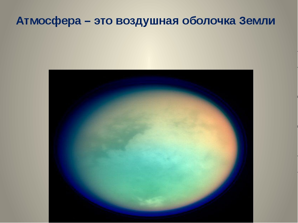Атмосфера – это воздушная оболочка Земли МКОУ Подгоренская СОШ №1 учитель гео...