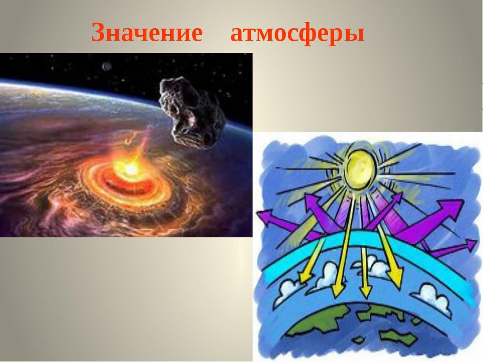 Значение атмосферы МКОУ Подгоренская СОШ №1 учитель географии Сидоренко С. А.