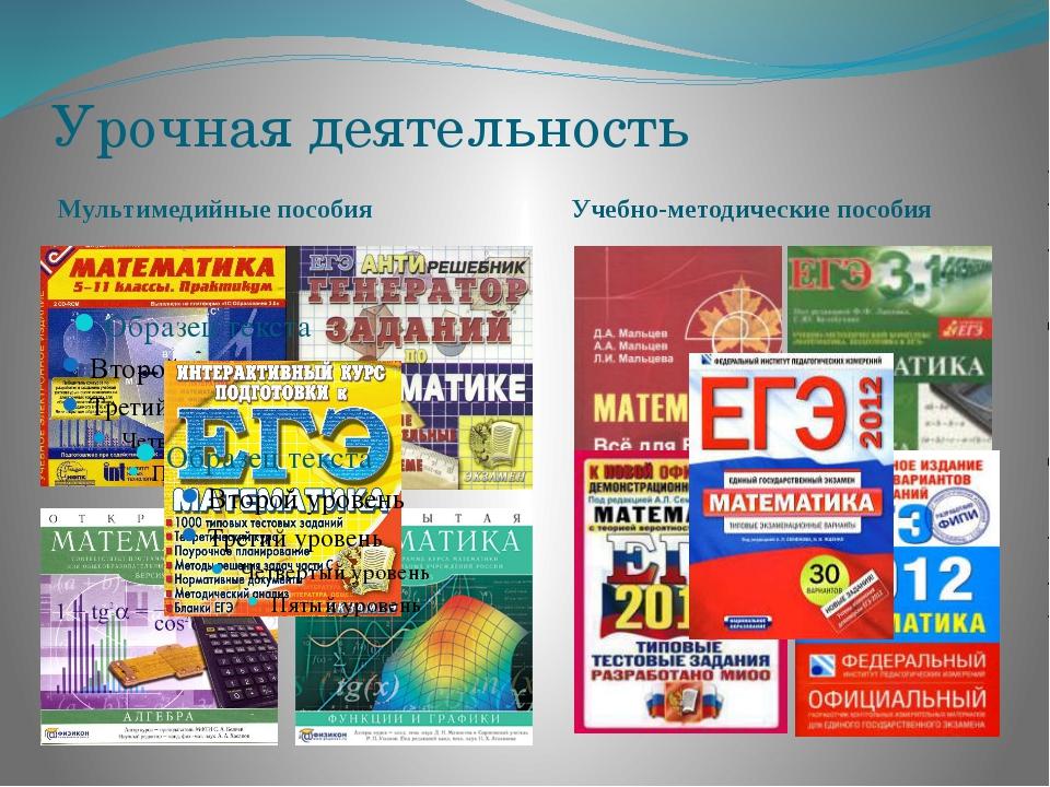 Урочная деятельность Мультимедийные пособия Учебно-методические пособия
