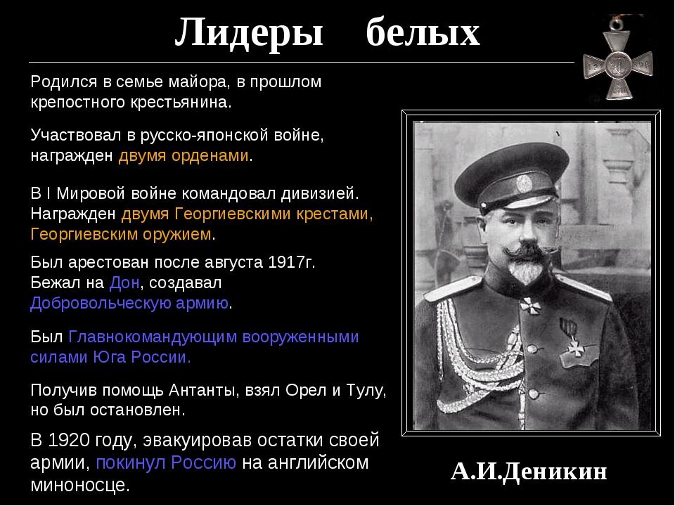 Лидеры белых А.И.Деникин