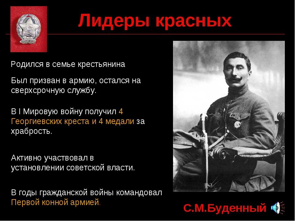 Лидеры красных С.М.Буденный