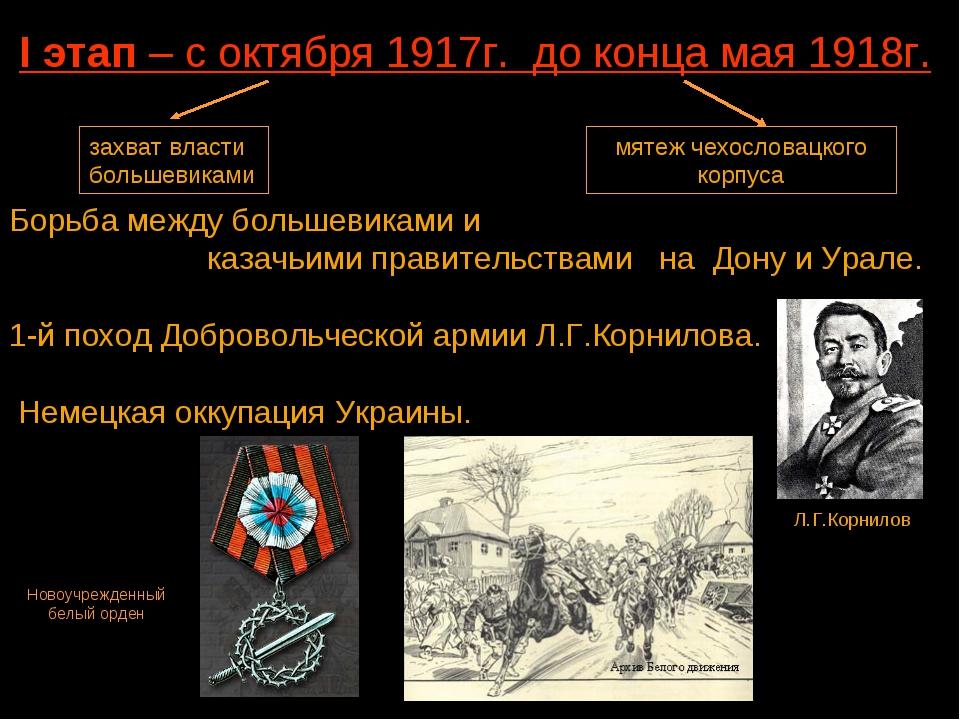 Борьба между большевиками и казачьими правительствами на Дону и Урале. 1-й по...