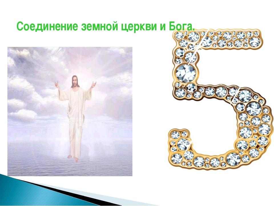 Соединение земной церкви и Бога.