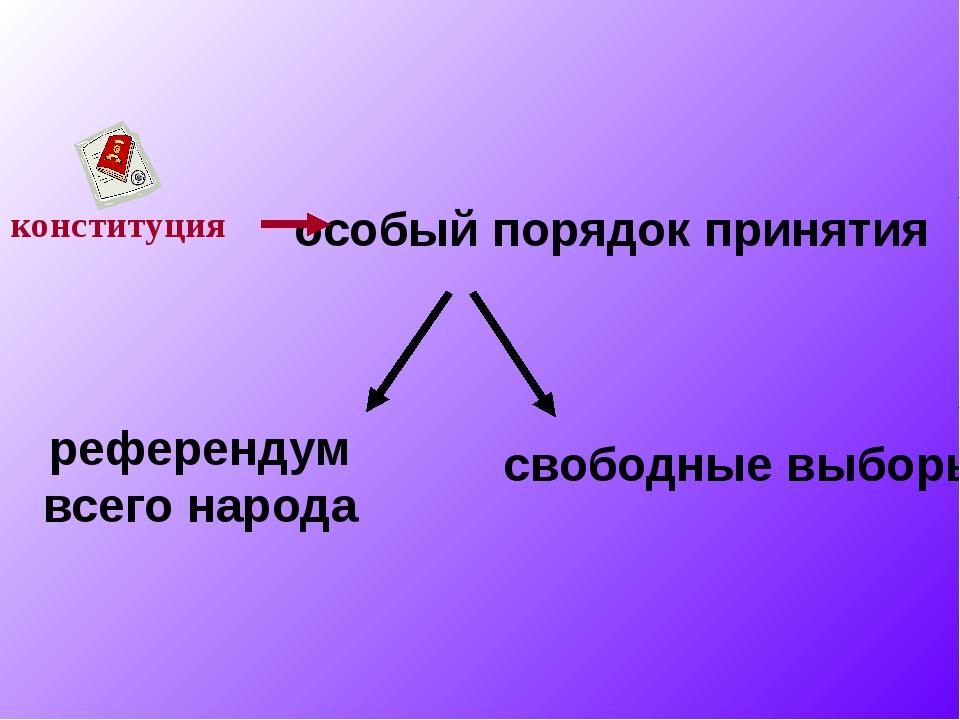 конституция особый порядок принятия референдум всего народа свободные выборы