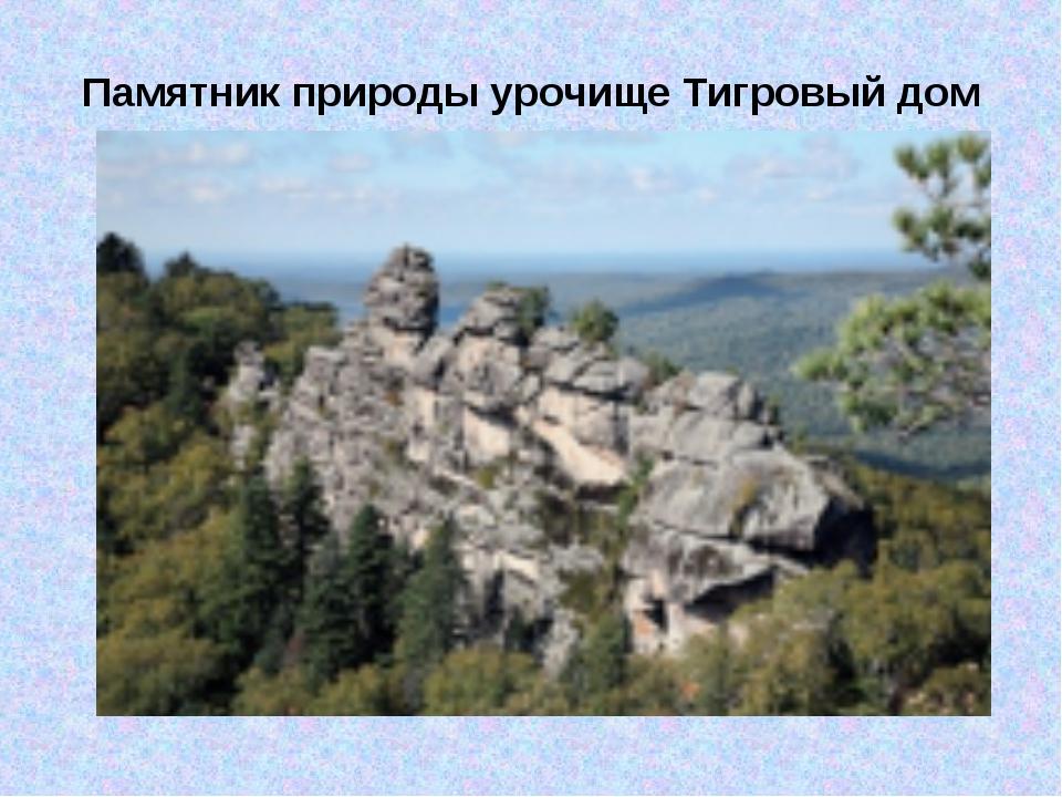 Памятник природы урочище Тигровый дом
