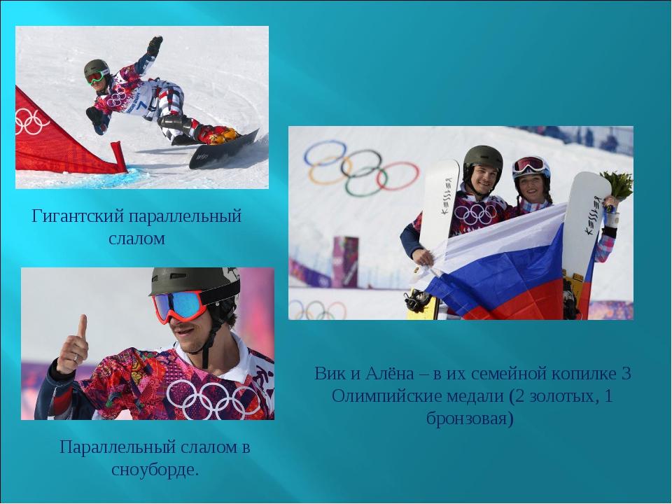 Гигантский параллельный слалом Параллельный слалом в сноуборде. Вик и Алёна –...