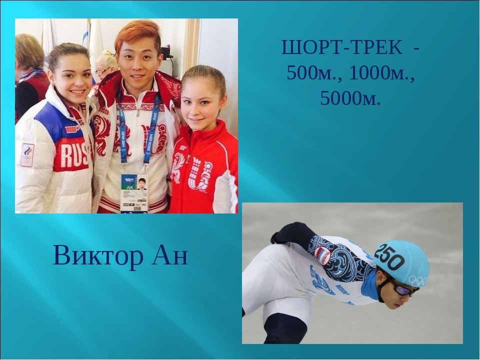 ШОРТ-ТРЕК - 500м., 1000м., 5000м. Виктор Ан