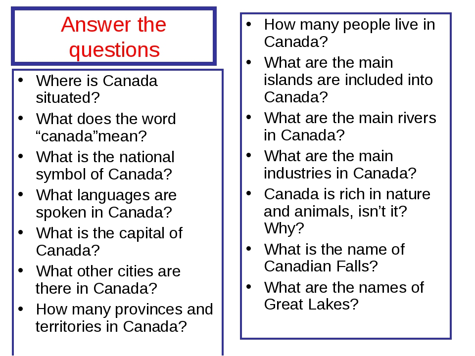 """Answer the questions Where is Canada situated? What does the word """"canada""""mea..."""