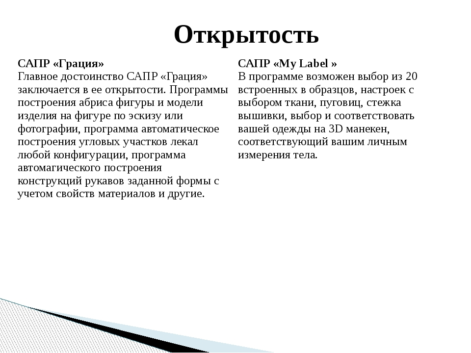 Открытость САПР «Грация» Главное достоинство САПР «Грация» заключается в ее о...