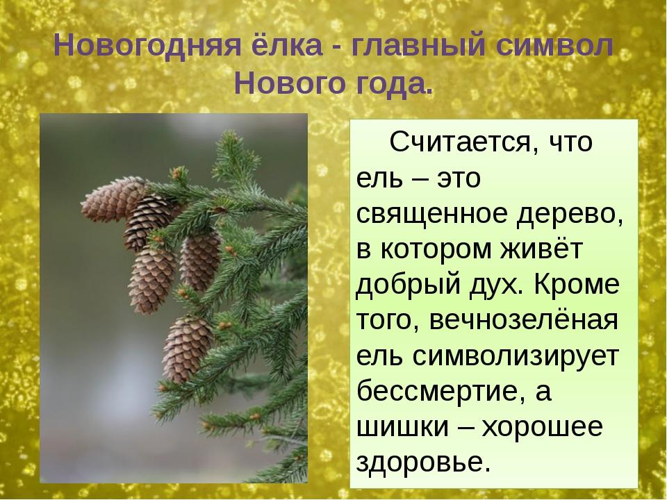 Новогодняя ёлка - главный символ Нового года. Считается, что ель – это священ...