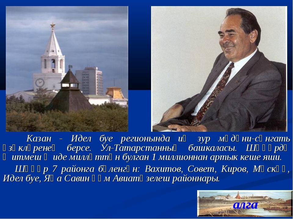 Казан - Идел буе регионында иң зур мәдәни-сәнгать үзәкләренең берсе. Ул-Тата...