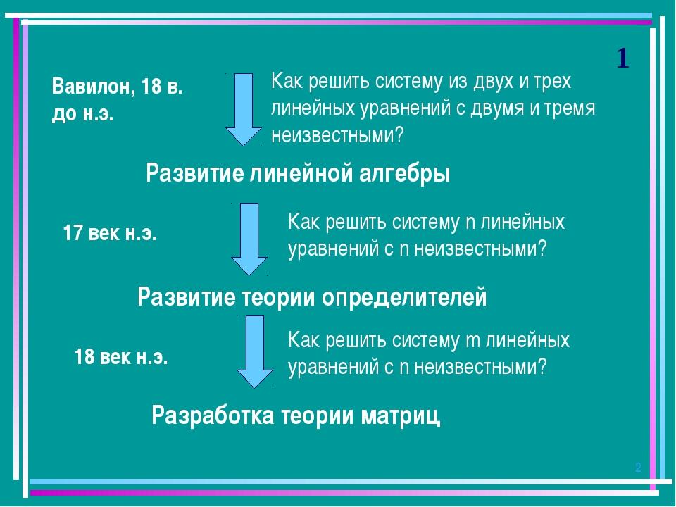 * 1 Как решить систему из двух и трех линейных уравнений с двумя и тремя неиз...