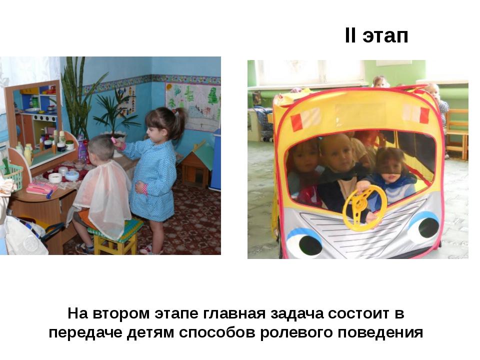 На втором этапе главная задача состоит в передаче детям способов ролевого пов...