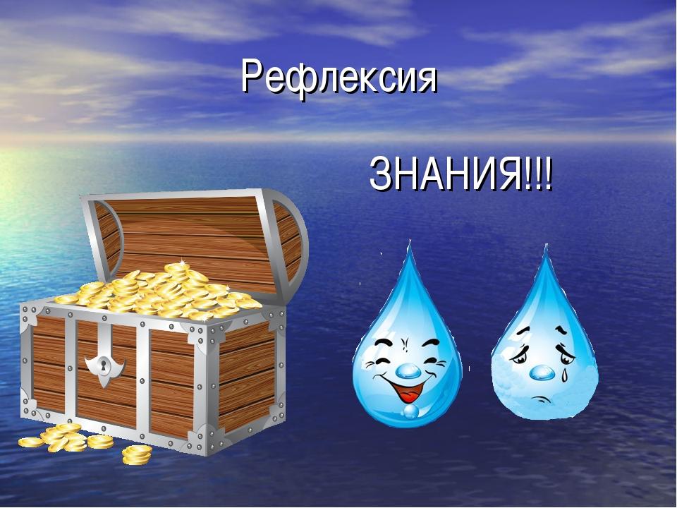Рефлексия ЗНАНИЯ!!!