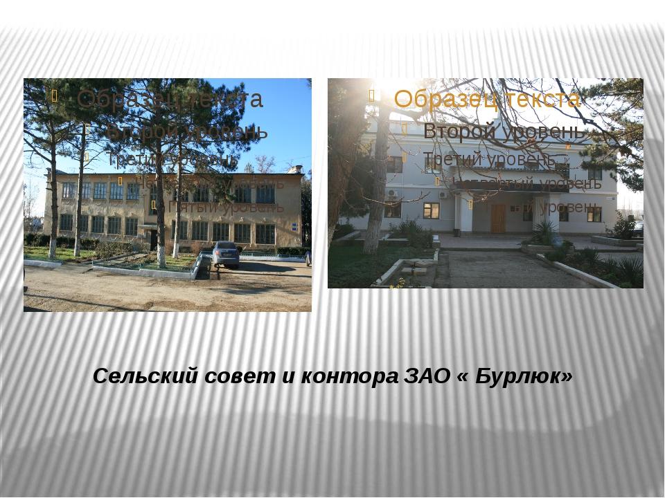 Сельский совет и контора ЗАО « Бурлюк»